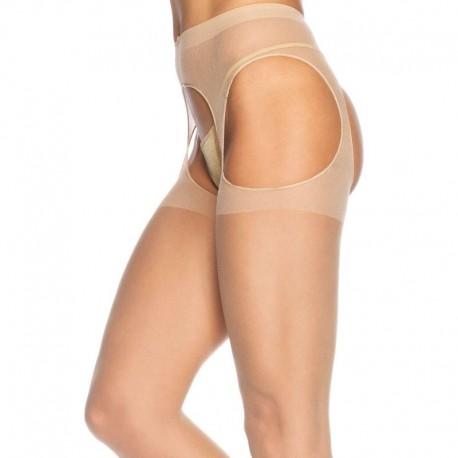 Sheer Suspender Pantyhose Nude - Leg Avenue