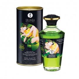 Huile chauffante aphrodisiaque Shunga - Thé Vert Exotic