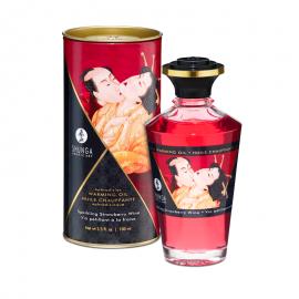 Huile chauffante aphrodisiaque Shunga - Fraise Champagne