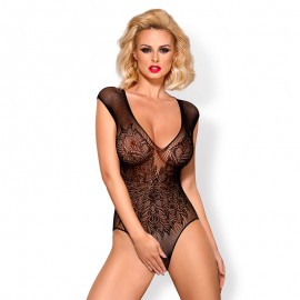Black Sexy Body Crotchless Teddy B112 – Obsessive