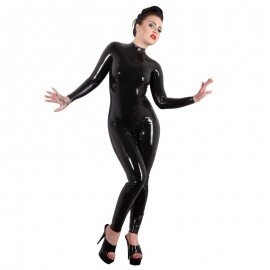 Catsuit di lattice nero – Late X