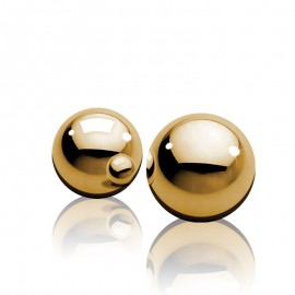 Boules de Geisha en métal Ben Wa Balls Gold - Pipedream