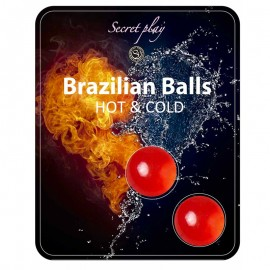 2x Boules lubrifiantes effet chaud & froid - Brazilian Balls