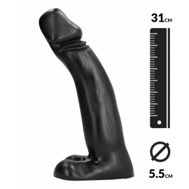 Gode Géant 31cm Big Willy-Penis-Dildo - All Black
