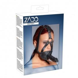 Leather Head Harness with Dildo - Zado