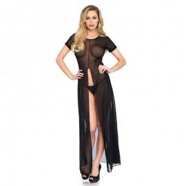 Robe longue sexy transparente – Leg Avenue