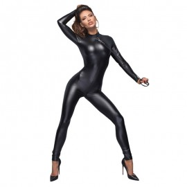 BDSM Body Stocking F162 - Noir Handmade