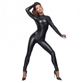 Combinaison moulante BDSM F162 - Noir Handmade