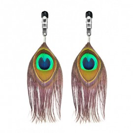 Nipple Clamps with peacock feathers - Rimba