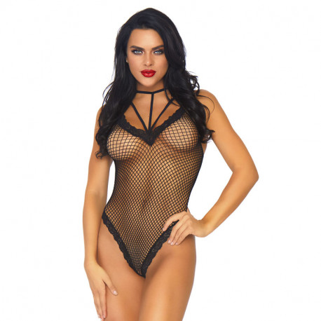 Sexy Fishnet Cage Strap Teddy (black) – Leg Avenue