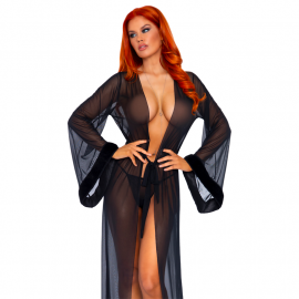 Robe longue sexy transparente & String – Leg Avenue