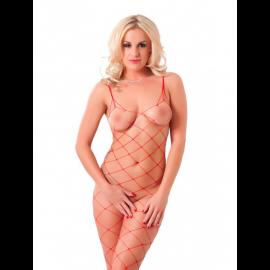 Sexy catsuit aperto Lustful (rosso) - Rimba