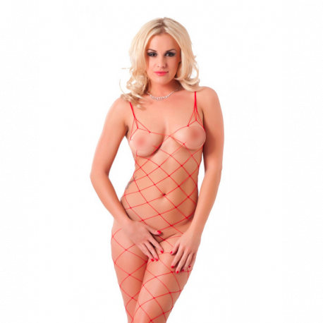Open Sexy Catsuit Lustful (red) - Rimba