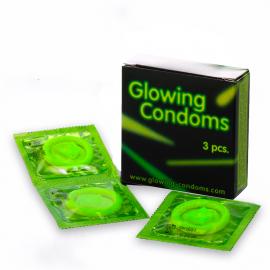 préservatifs fluo 3pc