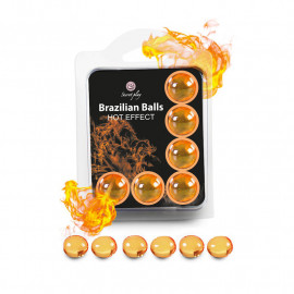 6x Brazilian Balls - intimate lube with warming effect