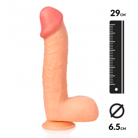 "Dildo Realistic ""The SUPER"" 29cm (Flesh) - Captain Red"