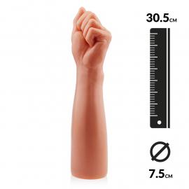 Giant Dildo BITCH FIST 30.5cm (flesh) - Rimba