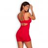 Jolierose Chemise & String (red) - Obsessive