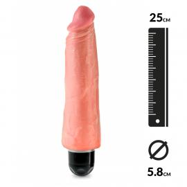 "Realistic vibrator 25cm (Flesh) - King Cock 8"""