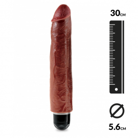 Realistic vibrator 30cm (Brown) - King Cock 10""
