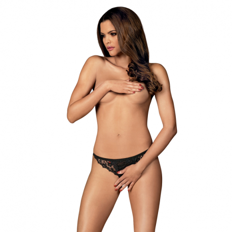 Sexy Thong Letica (Black) – Obsessive