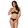 Letica Cupless Sexy Lingerie Set 2pcs. (black) - Obsessive