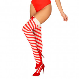 Bas sexy Kissmas Stockings (rouge) - Obsessive