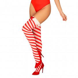 Calze sexy Kissmas Stockings (rosso) - Obsessive