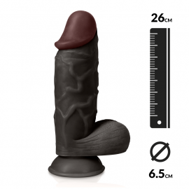 "Dildo réaliste ""THE STRONG"" 26cm (noir) - Captain Red"