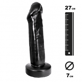 Large Dildo Uncut black - Hung System