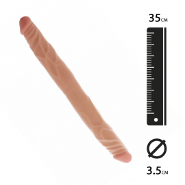 Doppio dong realista 35cm (flesh) - Get Real