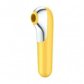 Satisfyer Dual Love Air Pulse (giallo) - stimolatore clitoride