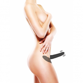Double Vibrating Silicone Strap-On Adjustable - Ouch