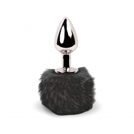 Mini Analer Stecker Bunny Tail (schwartz) - Feelztoys