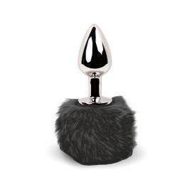Mini Plug anale Bunny Tail (nero) - Feelztoys