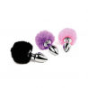 Mini Buttplug Bunny Tail (black) - Feelztoys