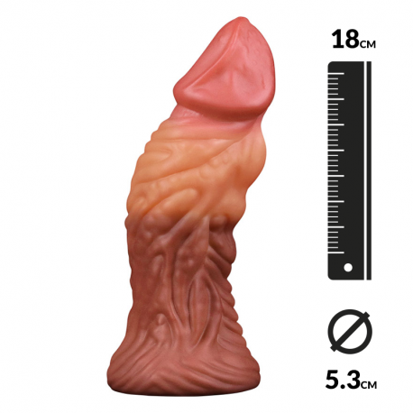 Dildo realistic double density (1.5 cm) - LoveToy Nature Cock