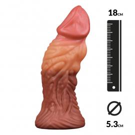 Dildo realistico a doppia densità (14 cm) - LoveToy Nature Cock