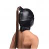 BDSM leather hood - Strict Ponytail Bondage Hood