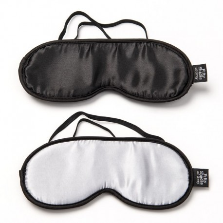 50 Shades of Grey - BDSM Soft Blindfold Twin Pack