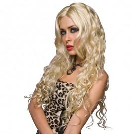 Perruques fantaisie blond platine bouclée - Jennifer