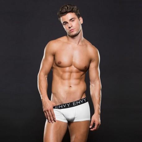 Boxer Short blanc taille basse Logo Elastic - Envy