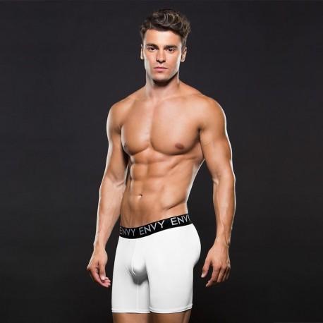 Long white sexy boxer Logo Elastic - Envy