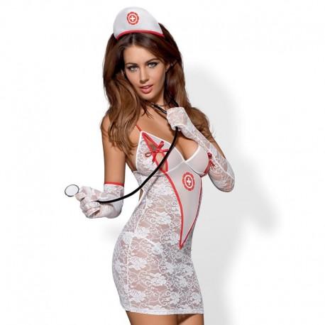 Sexy Krankenschwester-Kostüm - Obsessive Medica Dress