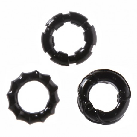 Cockring Set extensible 3pces - Malesation