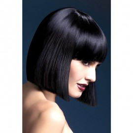 Black wigs square cut Lola 30 cm - Fever