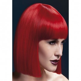 Black wigs square cut Lola 30 cm Red - Fever