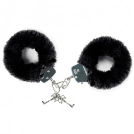 "Handcuffs with fur ""Furry Fun Cuffs"" - Black"