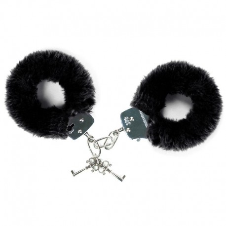 "Handcuffs with fur ""Attach Me"" - Black"