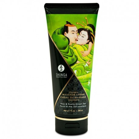 Köstliche Massage Creme Shunga - Pear & Exotic Green Tea